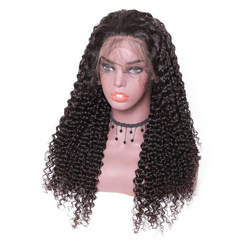 Nadula Jerry Curly Remy Wig Lace Closure Human Hair Wigs With Baby Hair 150% Density Wigs