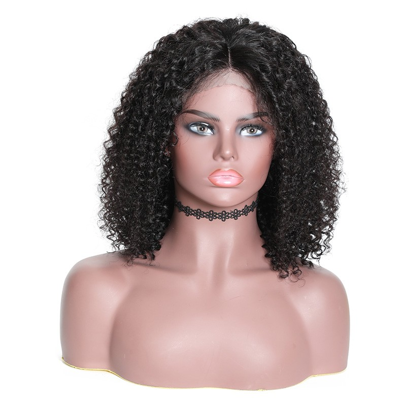 Nadula Short Bob Wig Lace Frontal 150% Density Wig Jerry Curly 100% Human Hair Super Soft