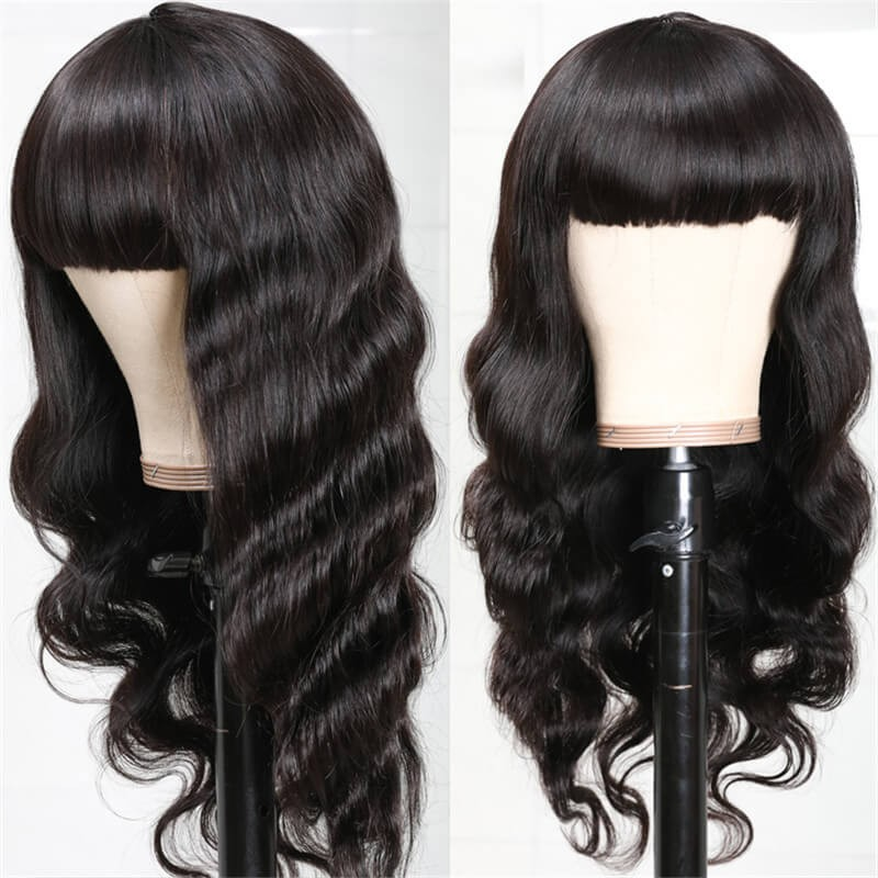 Nadula 100% High-quality Virgin Human Hair Capless Wigs Body Wave Hair With Bangs