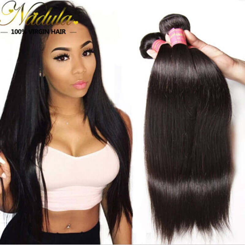 Nadula 3 Bundles Of Affordable Virgin Peruvian Straight Hair Bundle Deals Human Straight Weave