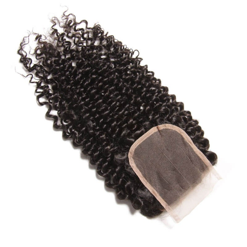 4pcs Curly Hair Bundles With Lace Closure