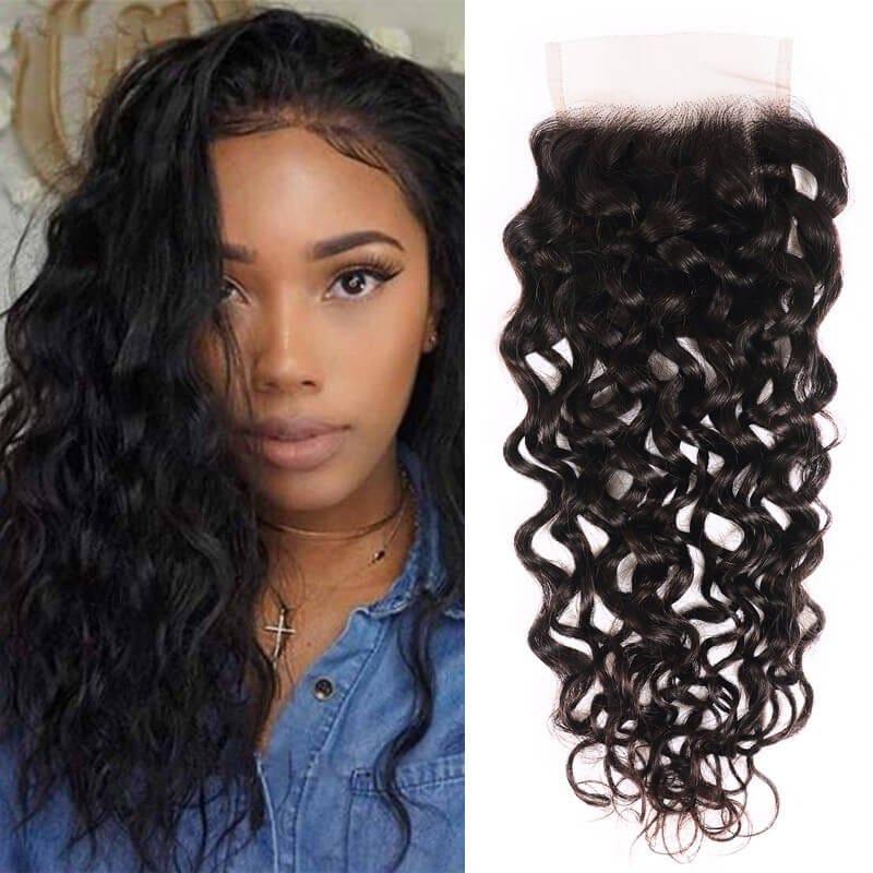 Nadula 100% Virgin Hair New Loose Water Wave Lace Closure