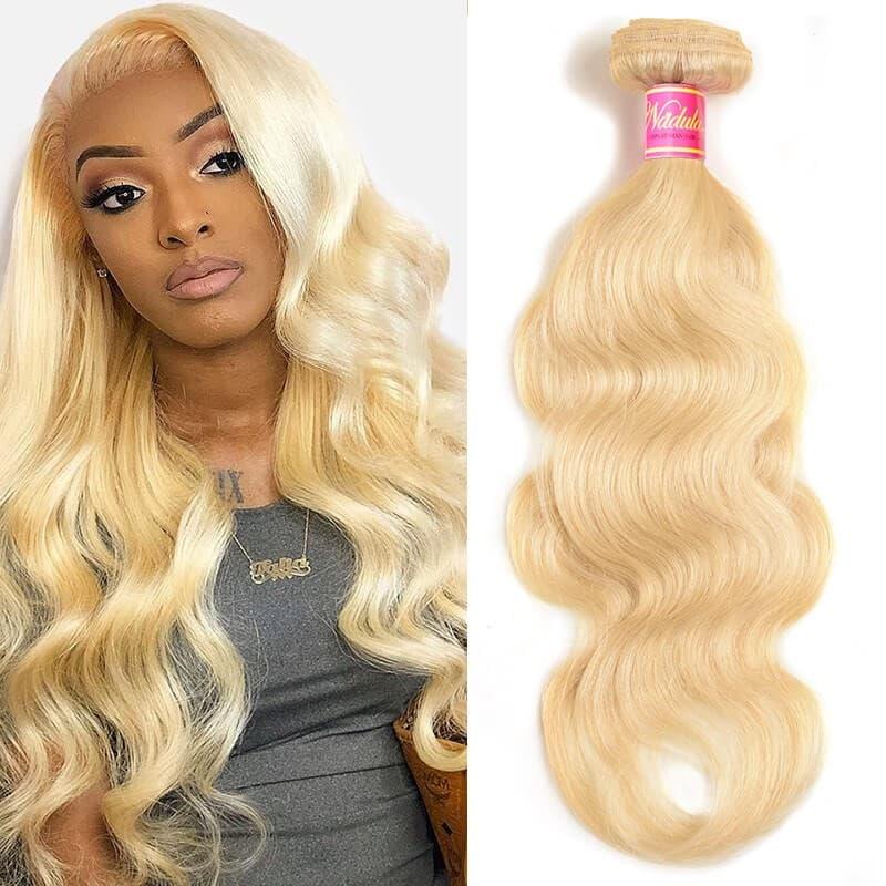 Nadula Hair 613 Blonde Virgin Human Hair Wave 1 Bundles Body Wave Hair