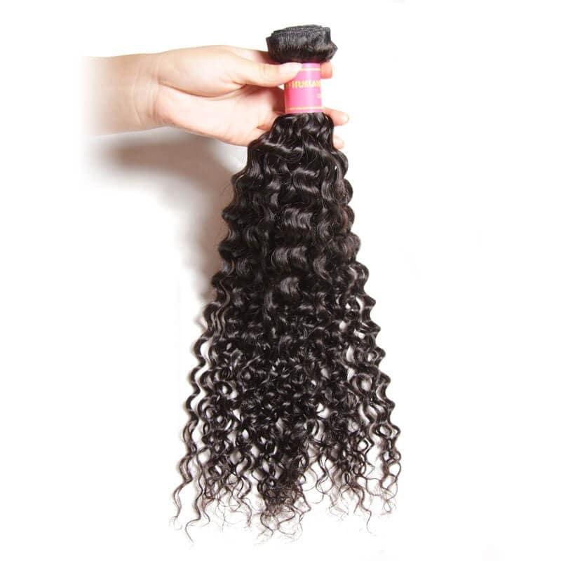 Nadula Affordable Brazilian Curly Virgin Hair Weave 1 Bundle Full Human Hair Extensions