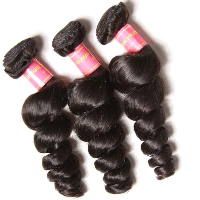 brazilian loose wave hair full head set