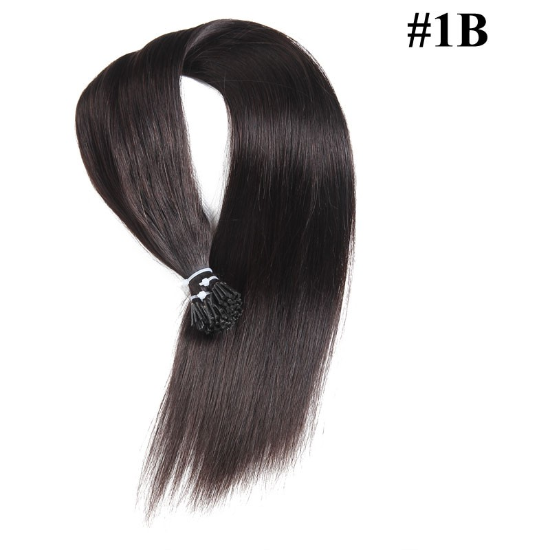 Nadula Tiny Tip Hair Extensions Colored I Tip Extensions Cheap Stick Tip Hair Extensions Best Keratin Tip Hair Extensions #613 100g