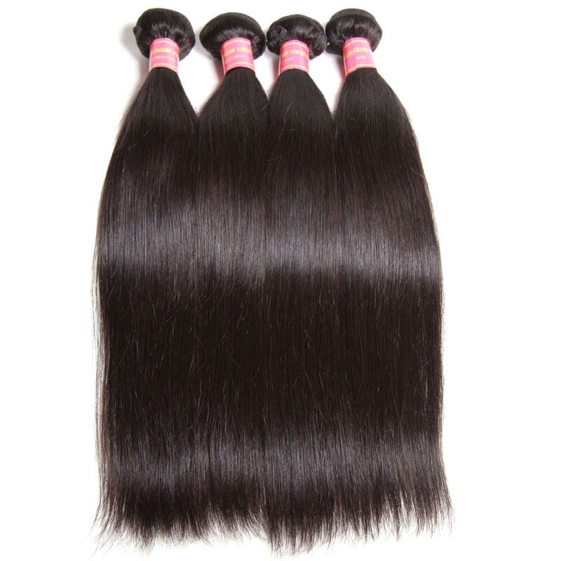 Nadula Affordable Virgin Peruvian Straight Hair 4 Bundles Thick Virgin Peruvian Human Hair Weave