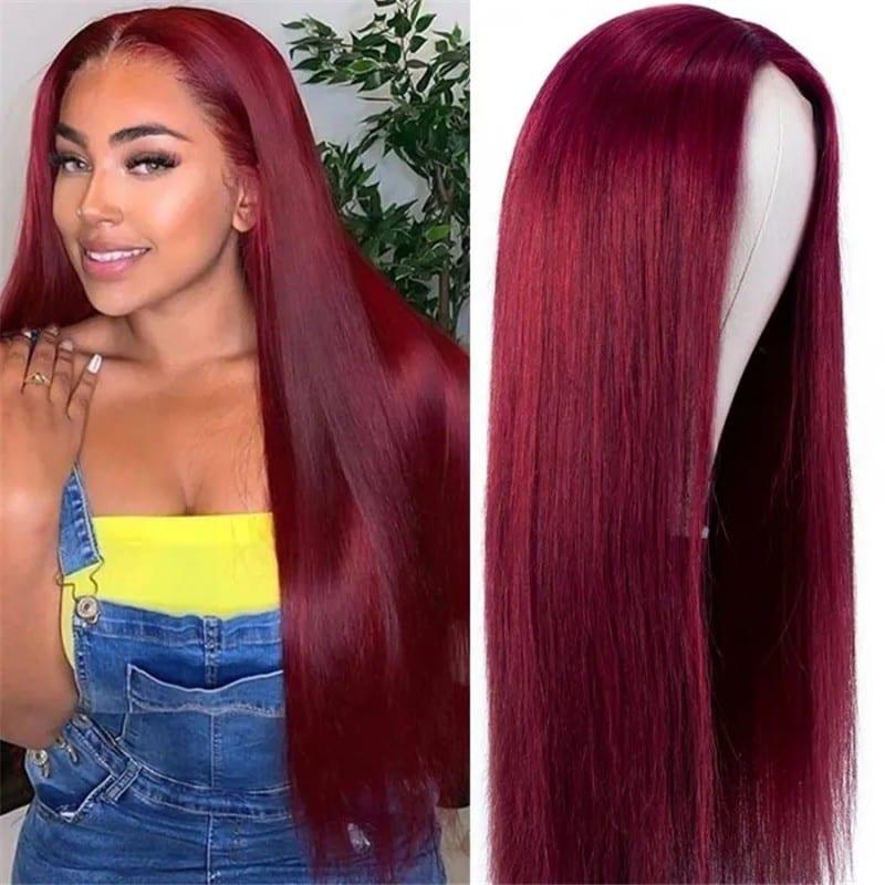 Nadula Colored 99J Burgundy Straight Wigs