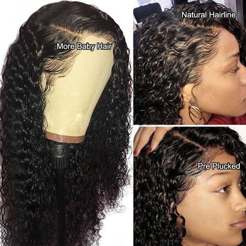 Nadula Jerry Curly Baby Hair Remy Wig 13*4 Lace Front Human Hair Wigs 180% Density Wigs