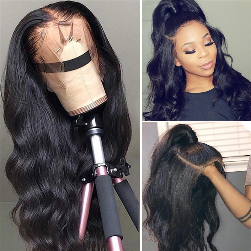 Nadula Lace Front Human Hair Wigs With Baby Hair 13*4 Long Body Wave 130% Density Wigs