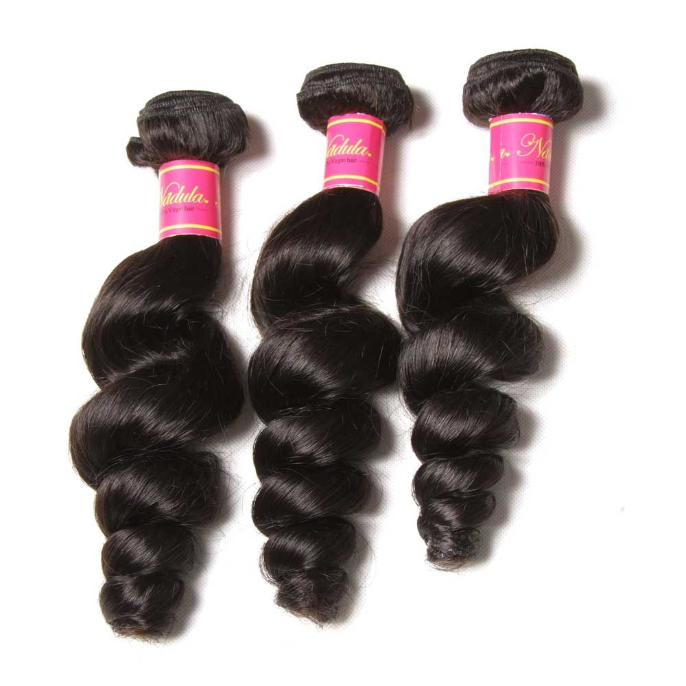 Nadula Real Quality Indian Hair Loose Wave 3 Bundle Deals Remy Hair Weave For Sale