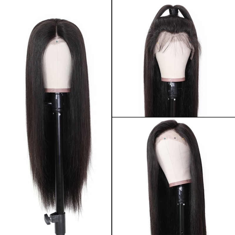 Nadula Straight Hair 360 Lace Remy Human Hair Pre Pluck Wigs High Quality 180% Density Wigs