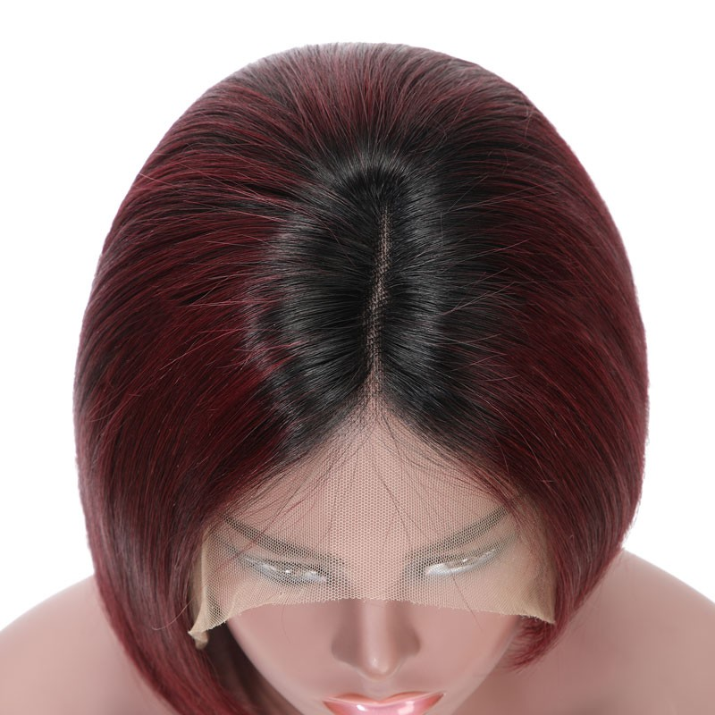 Nadula Straight Wigs Black Red Hair Lace Front Wig 100 Percent Human Hair Wigs