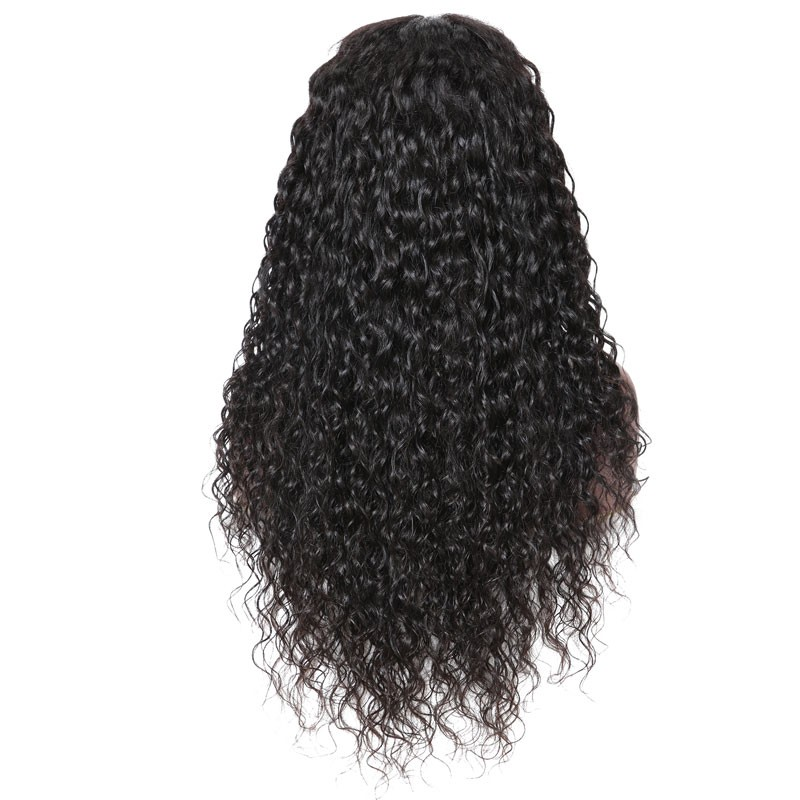Nadula Hot Sale Full Lace Wigs Water Wave Virgin Human Hair 180% Density Super Soft
