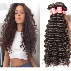 Nadula Unprocessed Virgin Peruvian Hair Bundles Deep Wave 4 Pcs Thick Peruvian Human Hair Weave