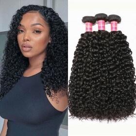 Nadula 100% Unprocessed Virgin Peruvian Curly Weave Remy Peruvian Human Hair Weave