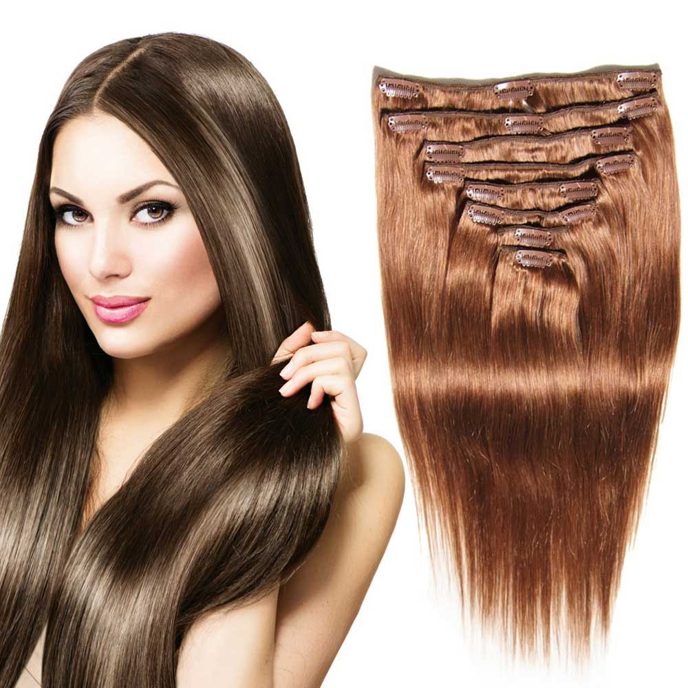 natural clip in hair extensions
