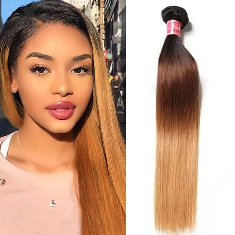 Ombre Virgin Straight Hair 1 Bundle