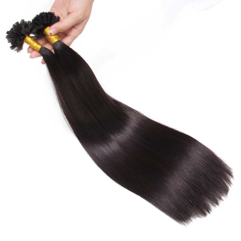 Nadula U Tip Keratin Bond Hair Extensions Buy U Tip Keratin Hair Extensions 100g #1B