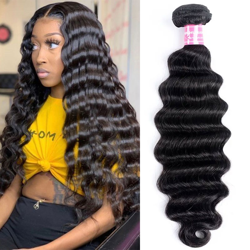 Nadula High Quality Loose Deep Wave Hair 1 Bundle Deals Unprocessed Virgin Human Hair Weave