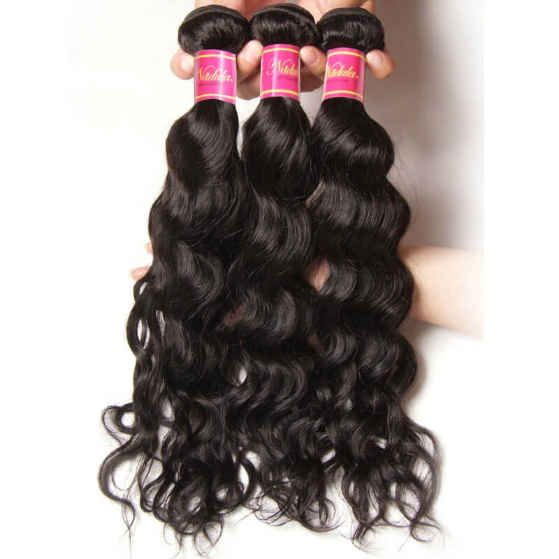indian natural wave hair 3 bundles