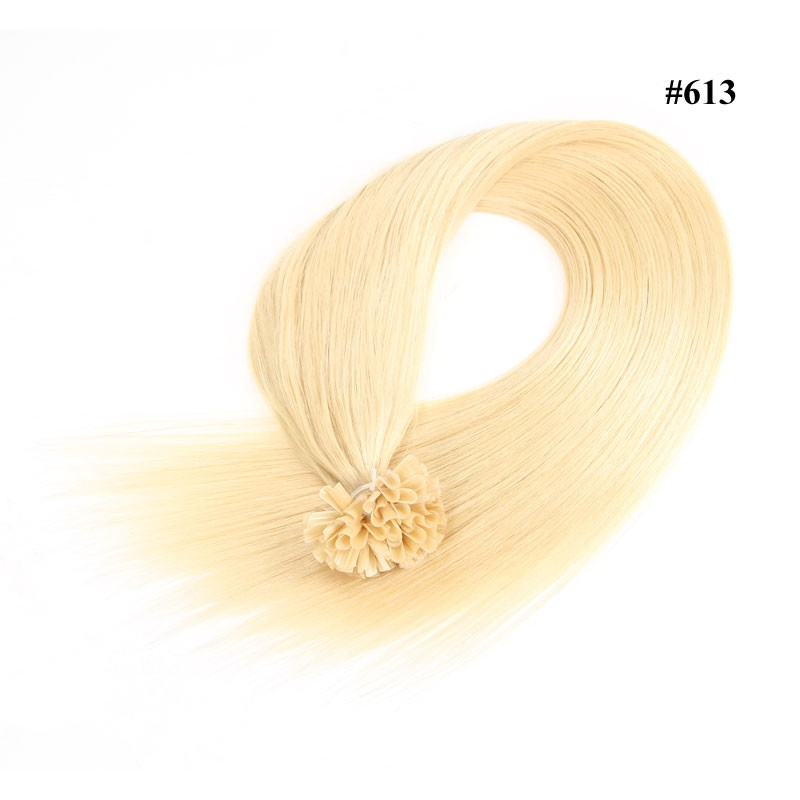 Nadula Brazilian Remy Human Hair Extensions 18in 20in 22in 24in Straight Nail U Tip Fusion Hair Extensions