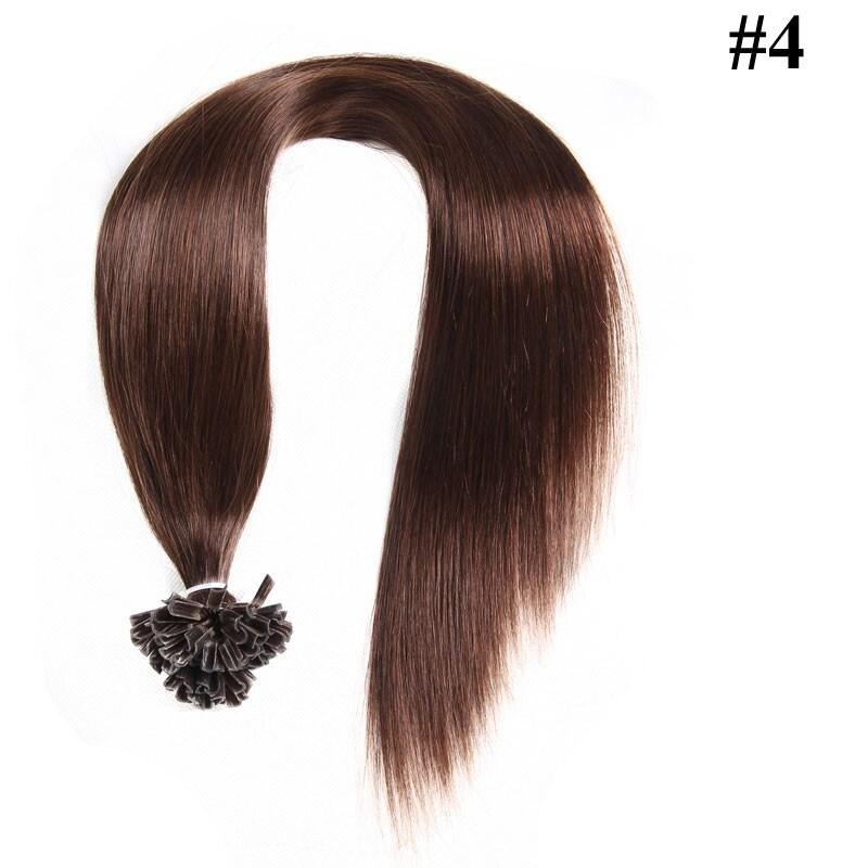 Nadula Affordable Indian Remy Human Hair Pre Bonded Nail U Tip Keratin Fusion Hair Extensions