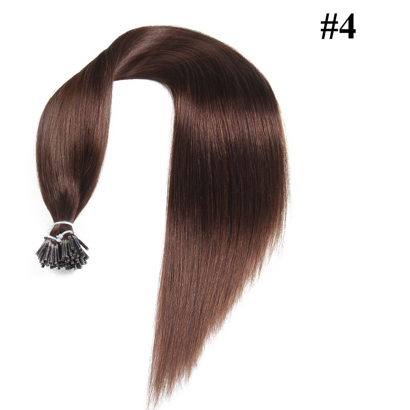 Nadula Affordable Indian Straight Remy Human Hair Pre Bonded Keratin Fusion I Tip Hair Extensions