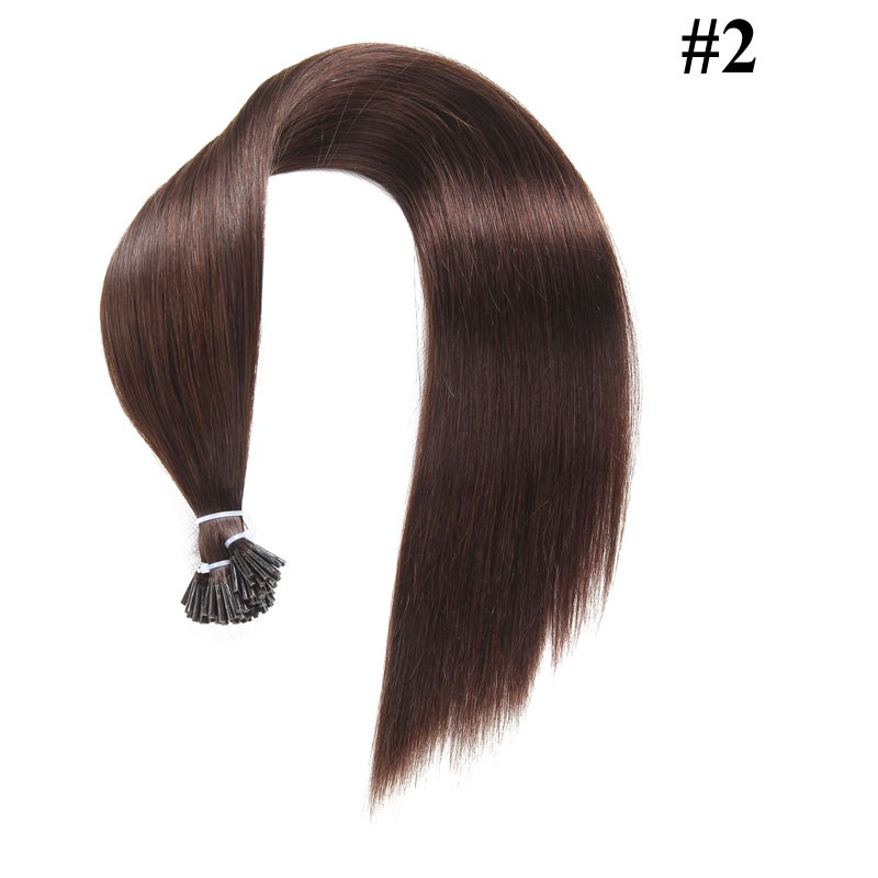Nadula Affordable Malaysian Remy Human Hair Extensions Straight Pre Bonded Keratin Fusion I Tip Hair Extensions