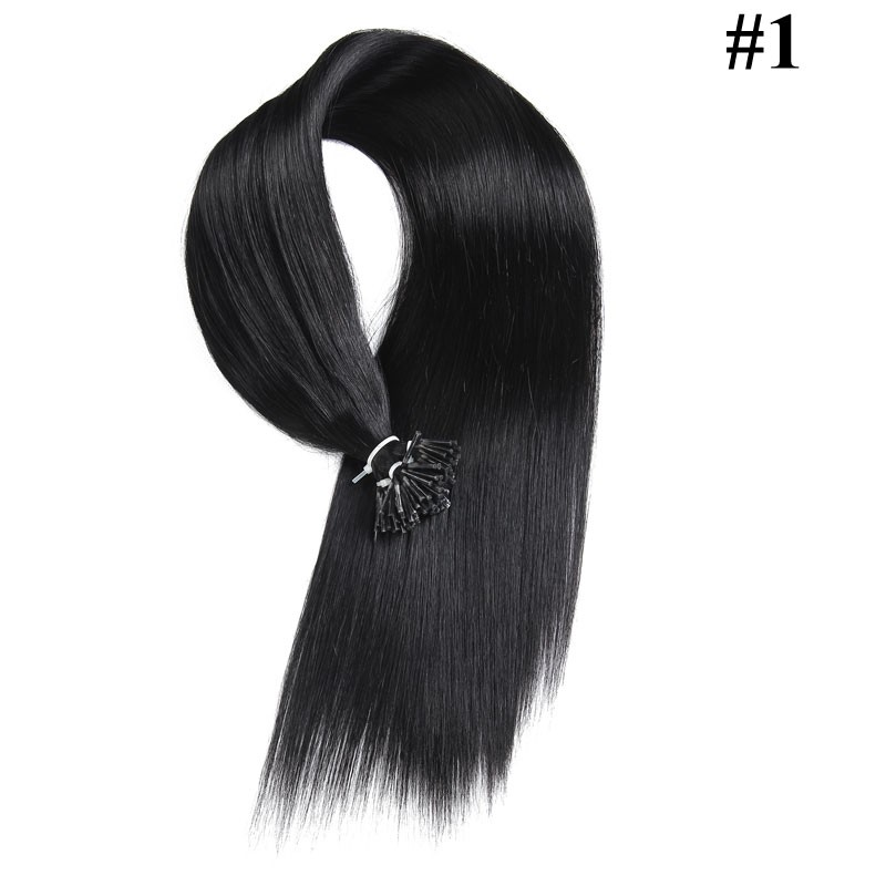 Nadula Affordable Pre Bonded I Tip Keratin Fusion Hair Extensions Straight Brazilian Remy Human Hair Extensions