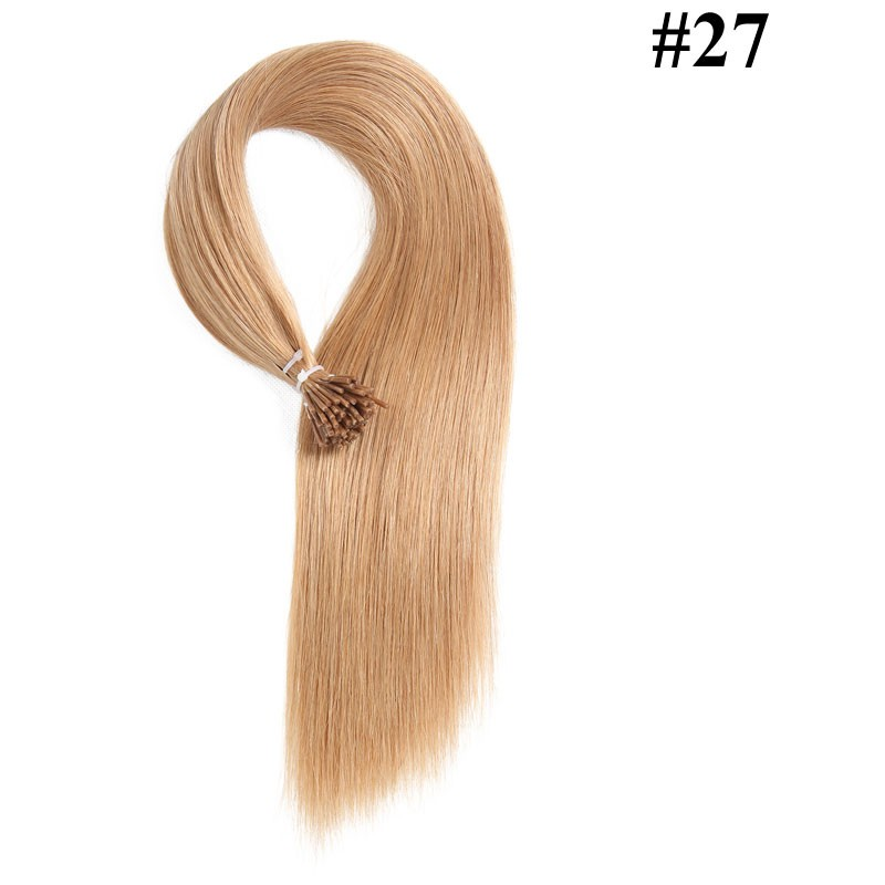 Nadula Peruvian Straight Remy Human Hair I Tip Keratin Fusion Hair Extensions #27 honey blonde 18in 20in 22in 24in