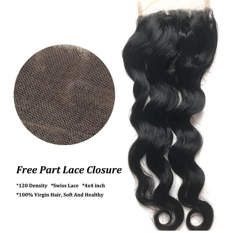 lace closure free part