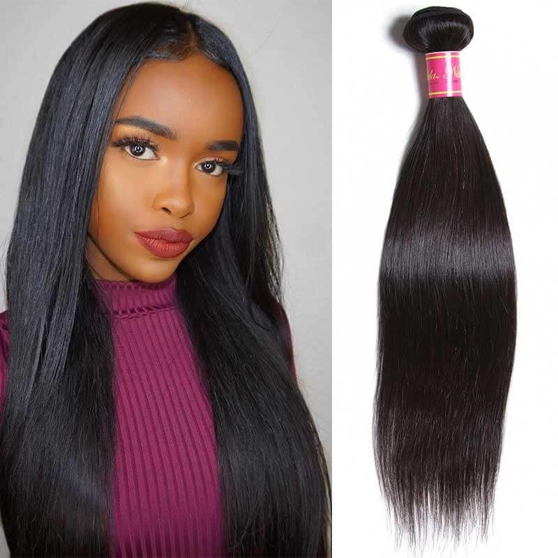 straight virgin brazilian hair 1 bundles