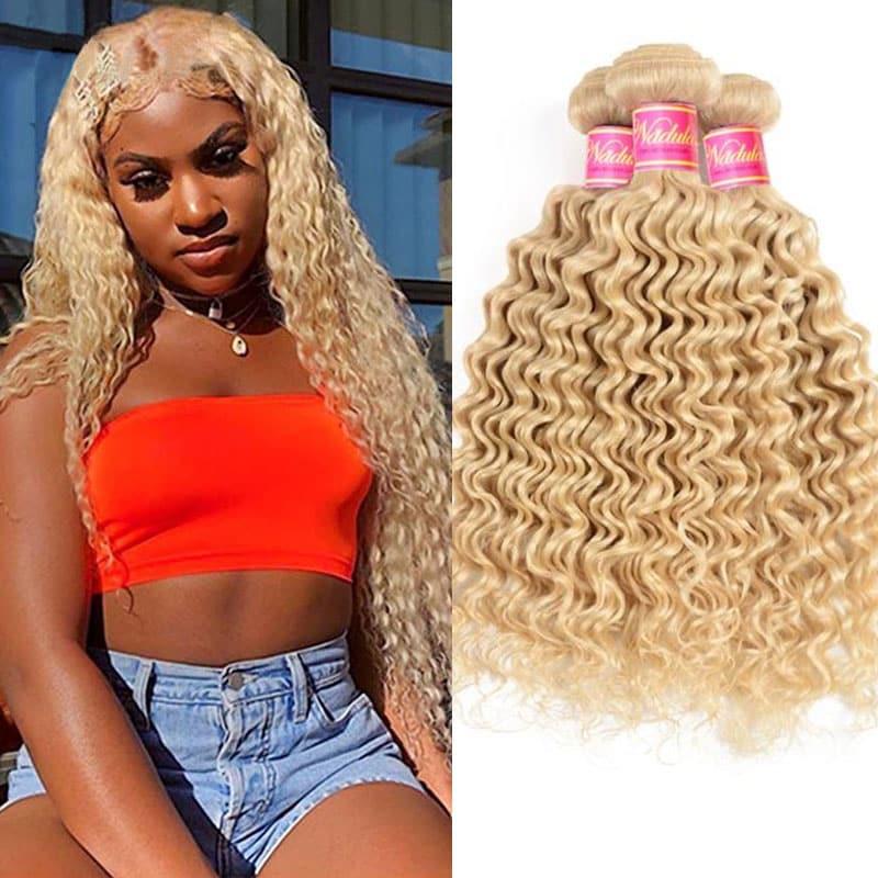 613 Blonde Hair Bundles Deep Wave