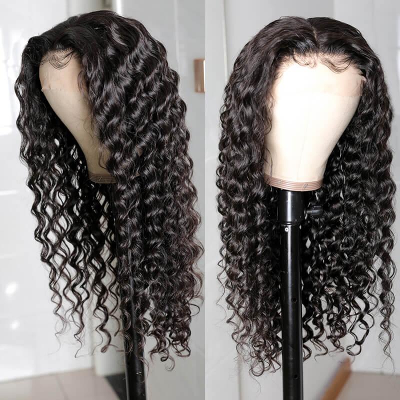 Nadula Virgin Human Hair Wigs Online Sale Lace Front Deep Wave