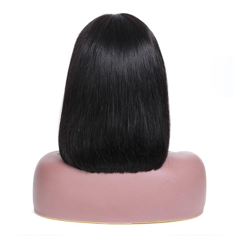 nadula New Straight Bob Wig with Bang Lace Front 130% Density Wig