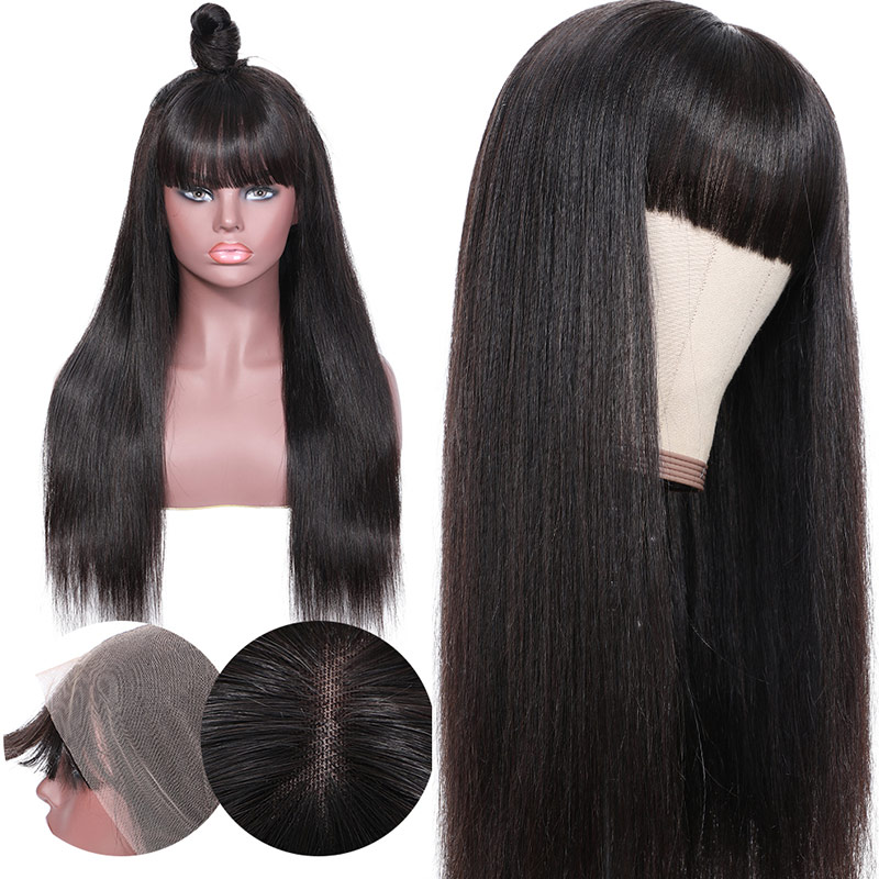 Transparent Lace Front Wigs With Bangs
