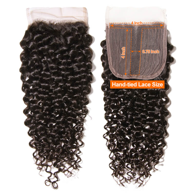 Affordable Middle Part Closure Curly Hair