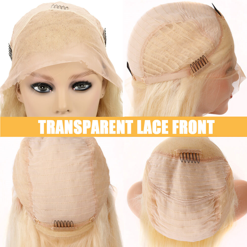 Nadula Remy Wig 100% Human Hair Transparent Lace Front Wigs 613 Color