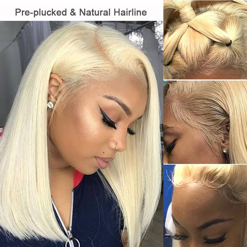 Nadula 613 Color Remy Wig 100% Human Hair Transparent Lace Front Wigs