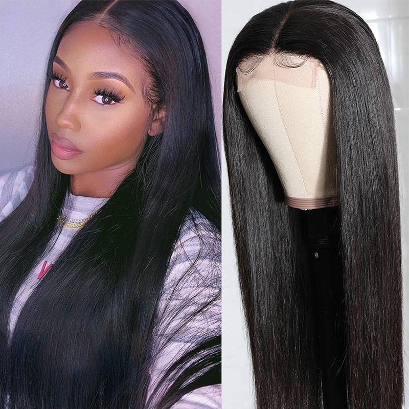 Nadula Lace Wig Long Straight Wig Hand Tied Lace Part Wig Pre-Plucked Natural Hairline With Baby Hair