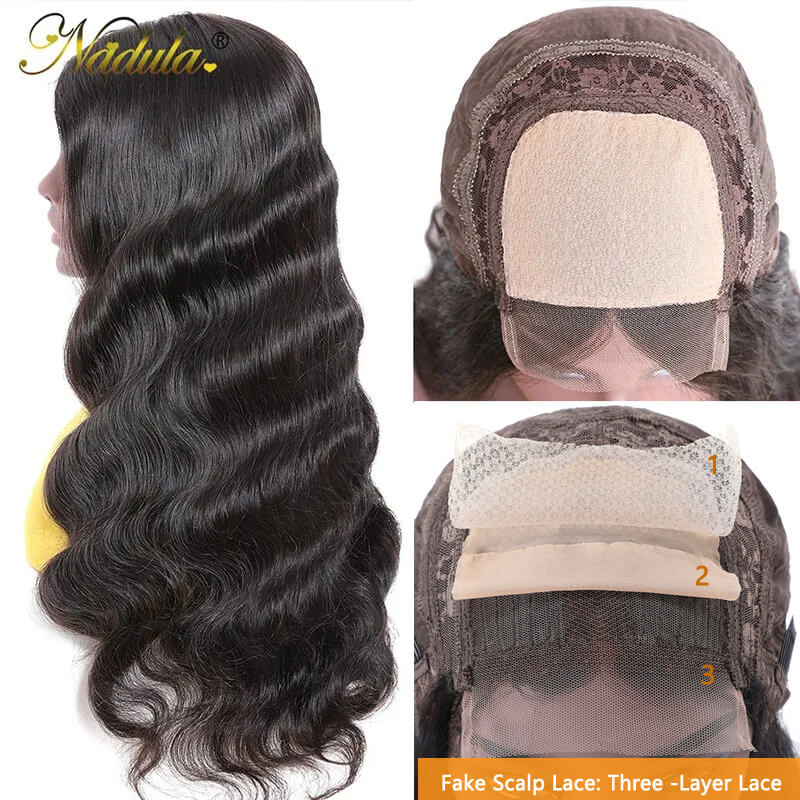 Nadula Lace Wig Human Hair Wigs Body Wave With Baby Hair Hand Tied Lace Wigs