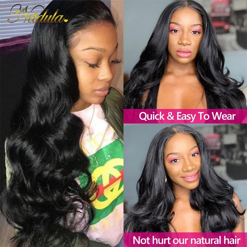 Nadula U Part Wig Body Wave Upgrade U Part Human Hair Wigs 150% Density Natural Looking Hairline