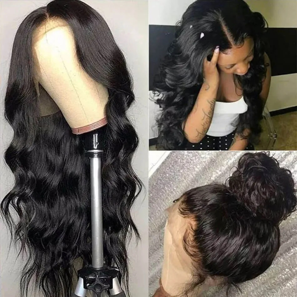 Long Body Wave 360 Lace Wig Human Hair Wigs With Baby Hair 180% Density Wigs