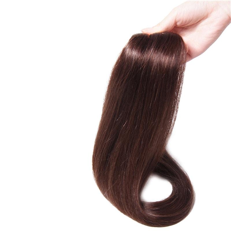 Nadula #2 Dark Brown 100% Real Human Hair Clip In Straight Hair Extensions