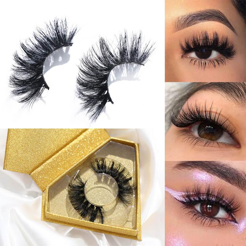 Nadula 3D Mink Eye Lashes Natural Handmade Volume Soft Reusable Eyelashes