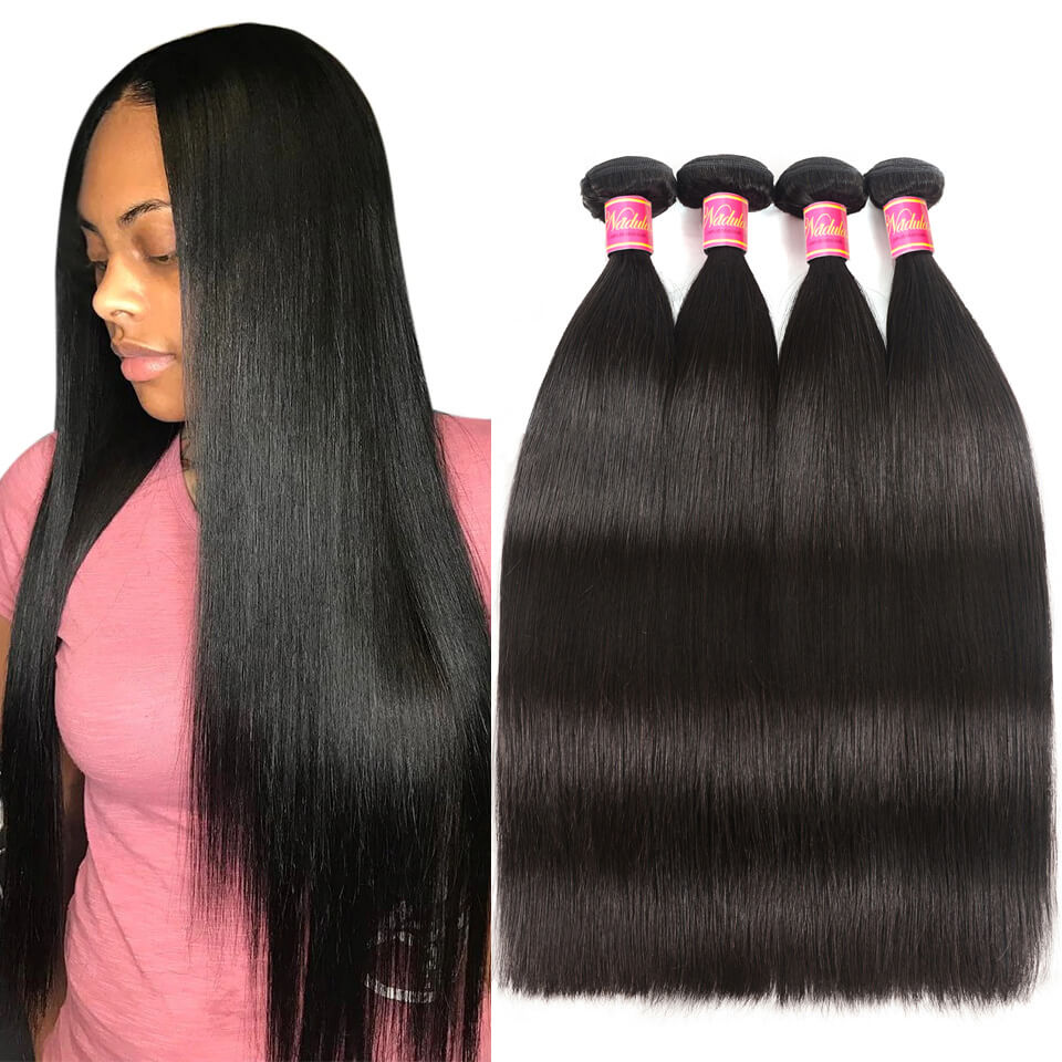 Nadula 4 Bundles Straight Virgin Hair Weave