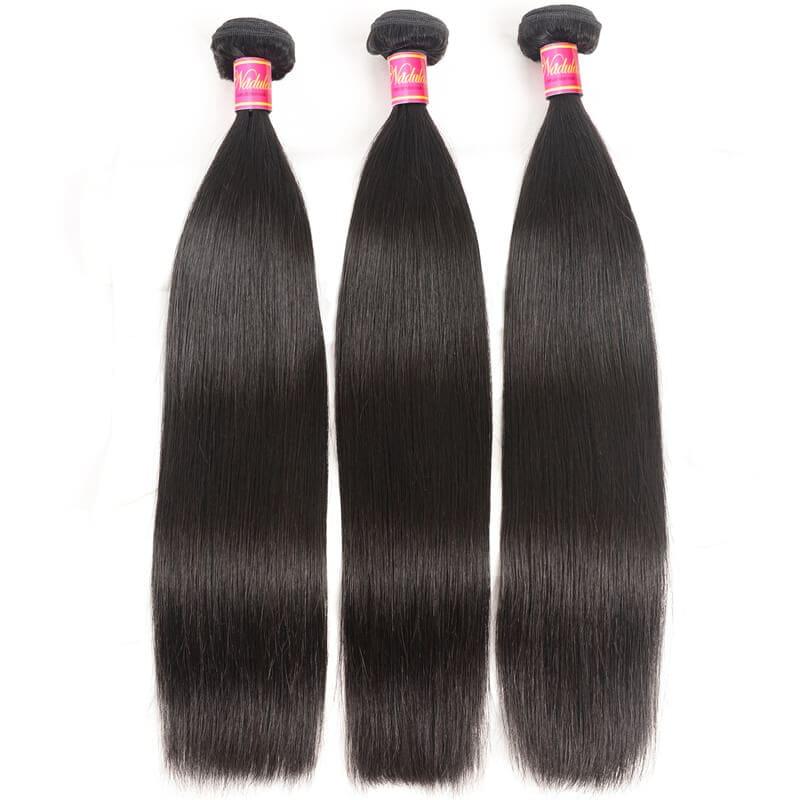 Nadula 4 Bundles Virgin Straight Human Hair Weave