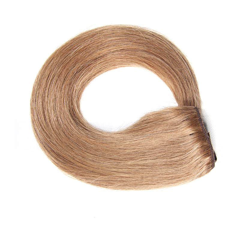 Nadula #6 Chestnut Brown Color 100% Human Hair Clip In Hair Extensions