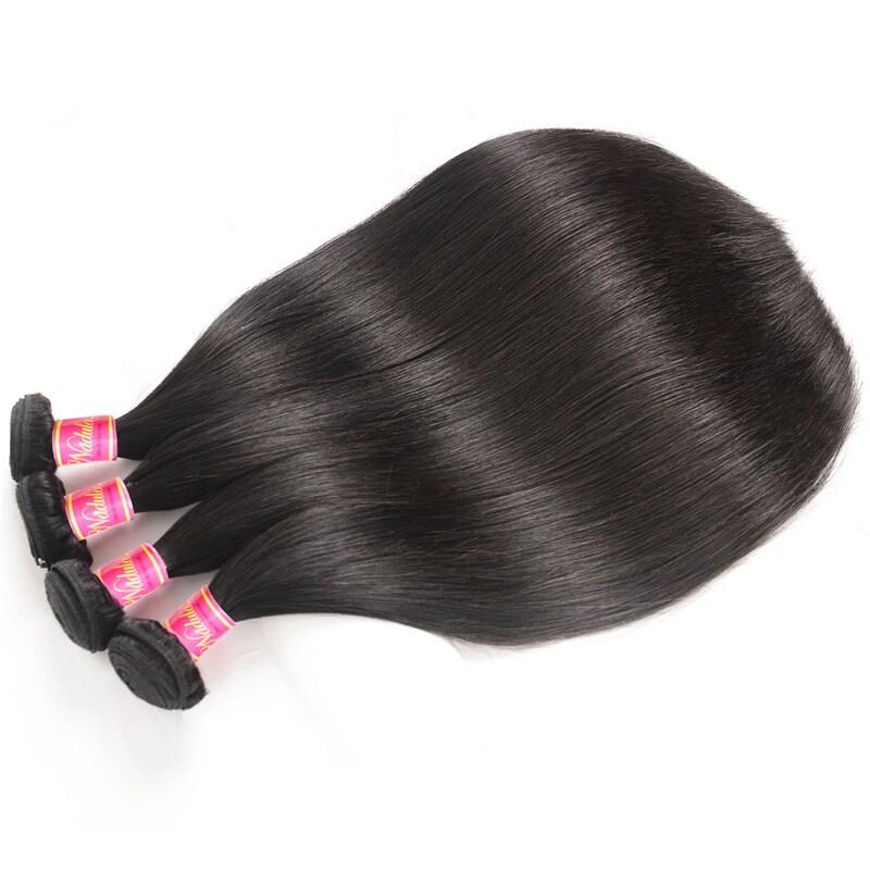 Nadula Affordable Virgin Peruvian Straight Hair 4 Bundles